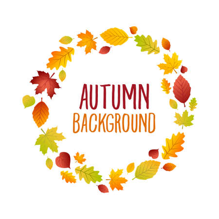 Autumn card - can be used as a decorative card or as a seasonal sales advertising.
