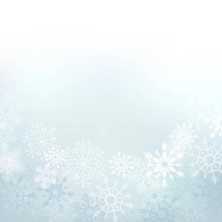 Elegant winter background made of snowflakes with blank space for your text