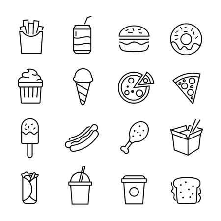 hot dog: Fast food icons.