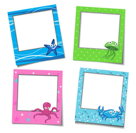 Holiday photo frames