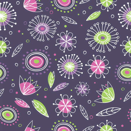 Floral pattern - decorative wallpaper Illustration