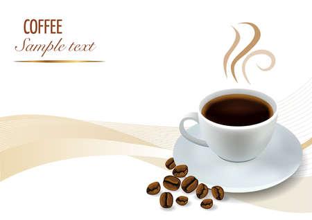 Coffee Background Иллюстрация