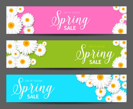 Spring sales banner - for any sales events and seasonal discounts.