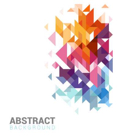 Colorful geometric Abstract design for web or print, brochure template Vector illustration