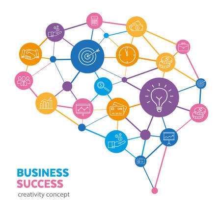 Business concept - how creativity can be used to make a successful business plan and to earn money.