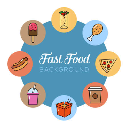 Fast food background. Can illustrate junk food, unhealthy eating, bad lifestyle.
