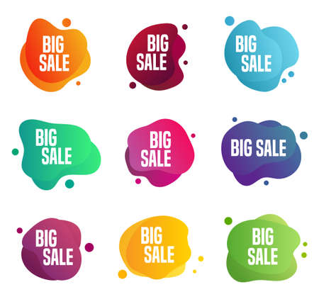 Sales stickers - label. Can be used for any commercial discount event.