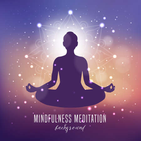 Yoga, Mindfulness and Meditation Background Banque d'images - 124428191