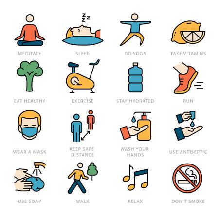 Healthy lifestyle - against viruses, diseases, coronavirus protection