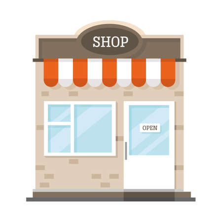 Shop - store icon illustration, can be used as a symbol for shopping or online shopping