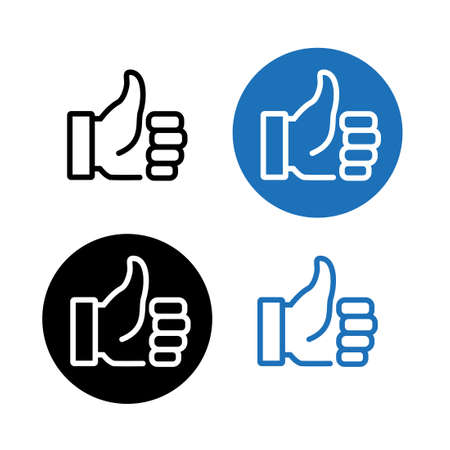 Collection of vector icons - thumbs up, like, agreement
