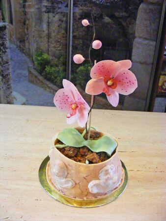gumballs: cake fondant orchid