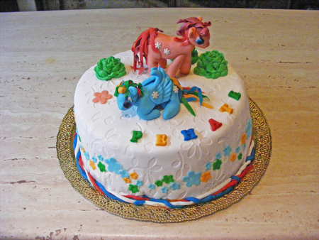 fondant fancy: cake fondant little poney Stock Photo