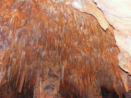 Stalactite and Stalagmite Formations in the Cave