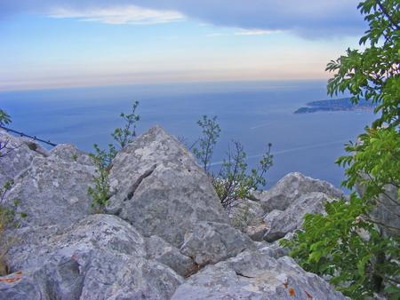 Cap dAil (Alpes-Maritimes, Provence-Alpes-Cote dAzur, France): the coast at summer