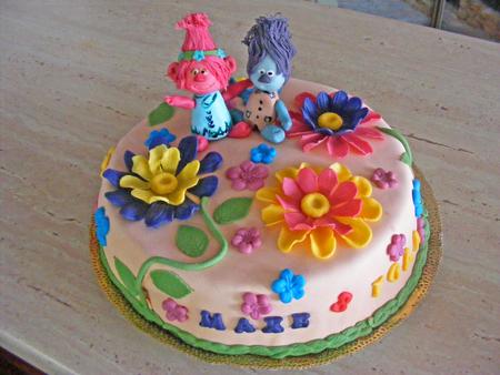 Cake fondant Trolis Stock Photo