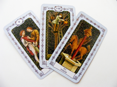 Tarot cards 3 isolated