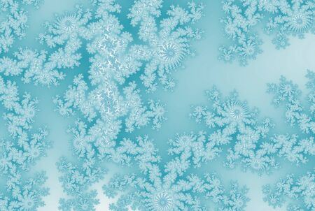 Ice crystal patterns frozen background
