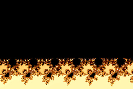 gold and black fractal flowers shape with a copy space Stock Photo