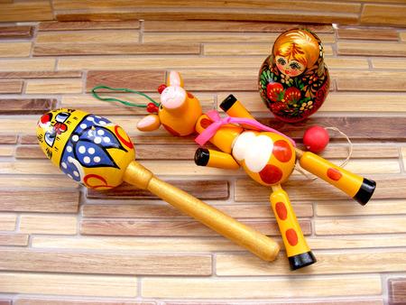 Matrioshka, russian baby toys Stock Photo