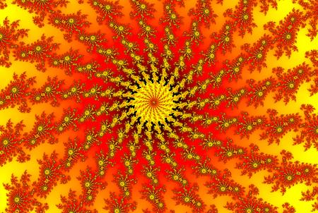 Sun Solar Storm in Outer Space sun fractal Banco de Imagens