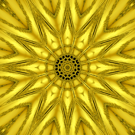 Gold mythical kaleidoscope, gold star light effect