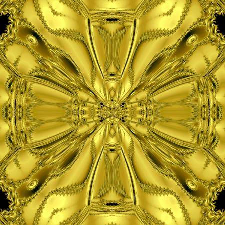 Celtic Kaleidoscope, golden medieval cross Stock Photo