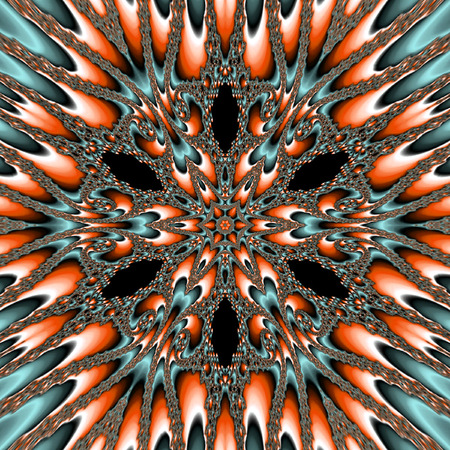 background fractal forms, effect nuclear star flower Stock Photo