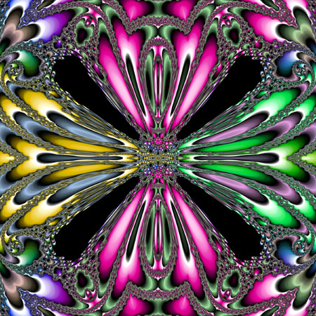 kaleidoscope colorful balloon, dark background Stock Photo