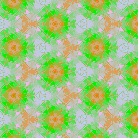 floral spring pattern in watercolor motif in orange and light green for easter or spring card, invitation or baby textile