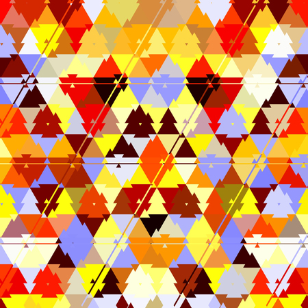 triangle camouflage rainbow pattern, effect leafs, sand, in red, orange, yellow, ehite, brown, sunny colors