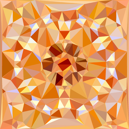 abstract golden diamond illustration with lights and reflections surface