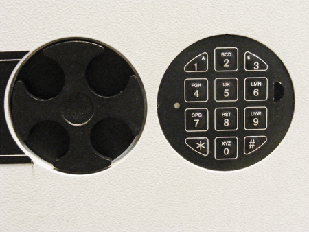 Safe with modern electronic lock Imagens