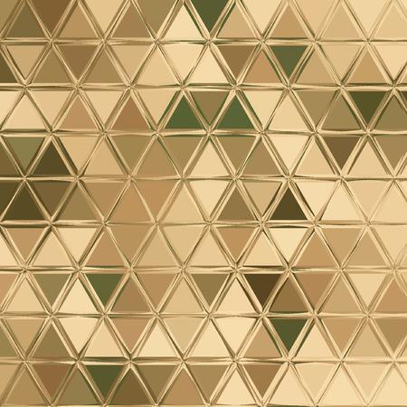 パステルカラーのベージュの三角形迷彩パターン:緑、カーキ、ブラウン、アイボリー