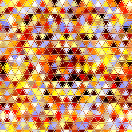 triangle rainbow pattern, effect leafs, sand, in red, orange, blue, yellow, brown, sunny summer colors Фото со стока