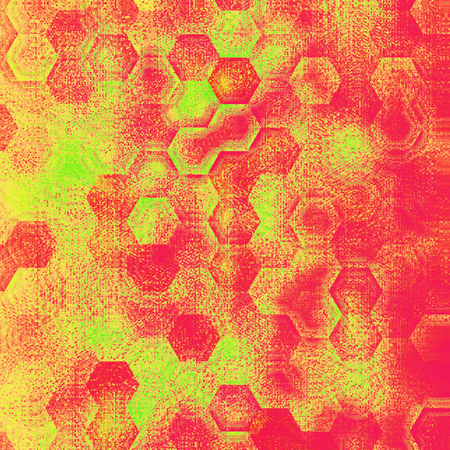 colored background knitted hexagonal weave in orange and yellow for card or banner spring and Easter  or baby textile. Archivio Fotografico