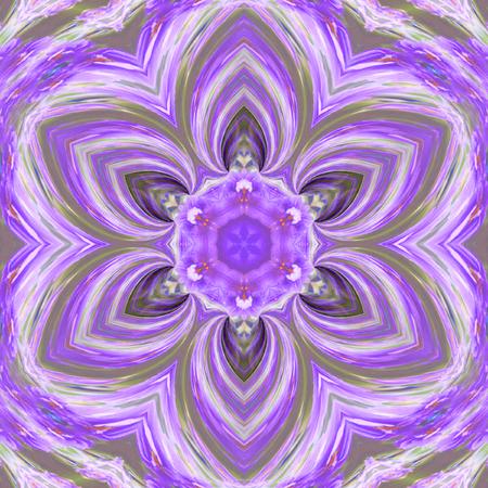 ultra violet tender tile, mosiac mandala effect triangle flower pattern