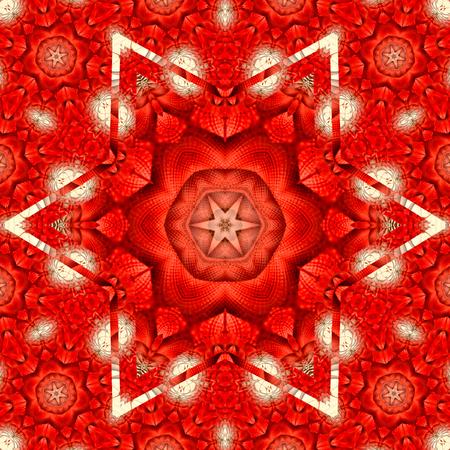 Red  star Kaleidoscope Stock fotó