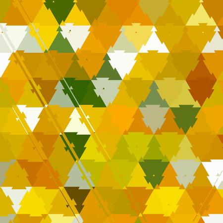 三角形迷彩パターンイエロー、グリーン、ホワイト、スプリングのエフェクトリーフ 写真素材