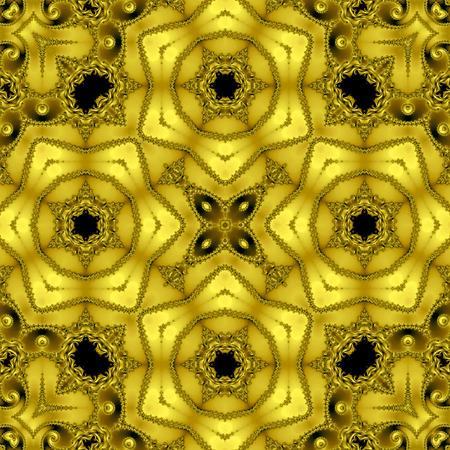 Geometric gold Cross Flower Pattern