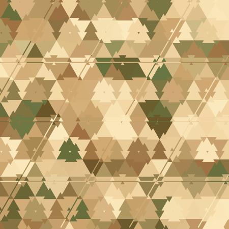 三角形迷彩パターングリーン、カーキ、ブラウン、アイボリー、エフェクトリーフ、砂 写真素材