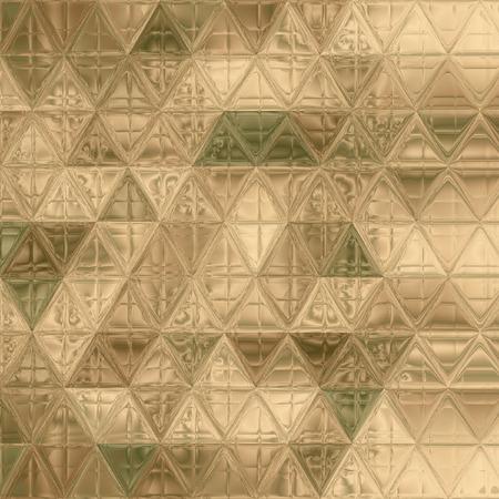 かなり三角形迷彩パターングリーン、カーキ、ブラウン、アイボリー 写真素材