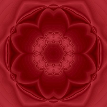 Ornament color card with mandala. Geometric circle element elegant mandala monochrome in red marsala