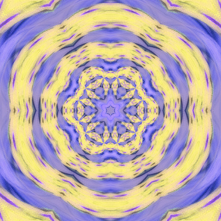 yellow and purple fractal spiral