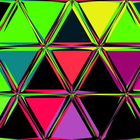bright colorful triangle mosaic pretty background Banco de Imagens