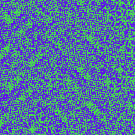 hexagonal pattern floral concept in blue teal colors Reklamní fotografie