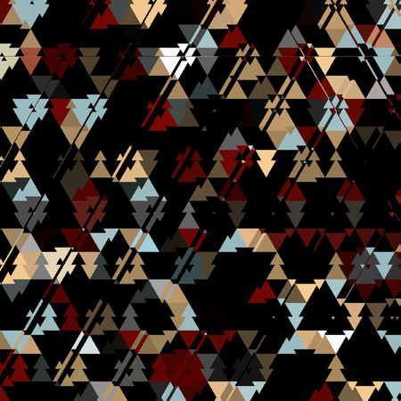 triangle dark camouflage pattern, colorful triangles on dark background Фото со стока
