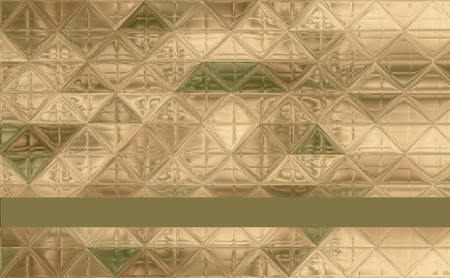 pretty triangle camouflage pattern green, khaki, brown, ivory with ribbon and trim for text