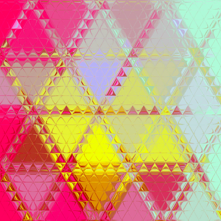 Pretty pink and yellow triangle background Imagens