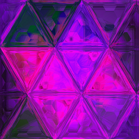 Blue, ultra violet and pink triangle background effect glass Stock Photo